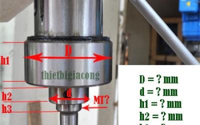 Cách đo trục máy để lắp đầu khoan ta rô chùm